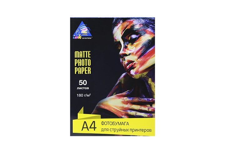 фото Матовая фотобумага INKSYSTEM Matte Photo Paper 180g, A4, 50 листов