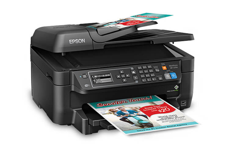 фото МФУ Epson Workforce WF-2750 с СНПЧ