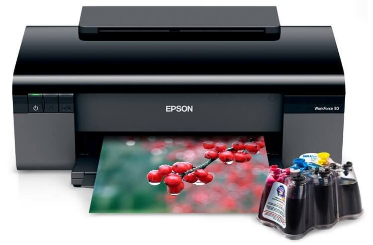 EPSON Workforce 30 с СНПЧ 1